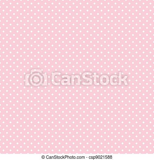 Seamless Polka Dots auf Pastel Pink - csp9021588