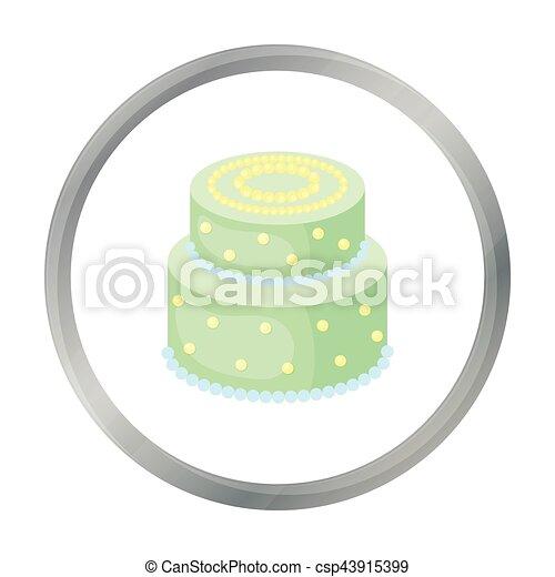 Punkte, stil, illustration., symbol, kuchen, gelber , freigestellt ...