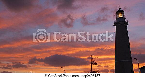 punta, 灯台, del, dusk., este - csp2426157