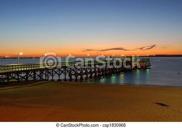 punta, del, 浜, 桟橋, este - csp1830968