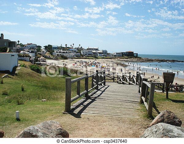 punta, del, 浜, este - csp3437640