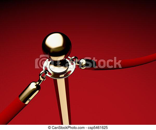Brass Stanchion con cuerda de terciopelo rojo - csp5461625