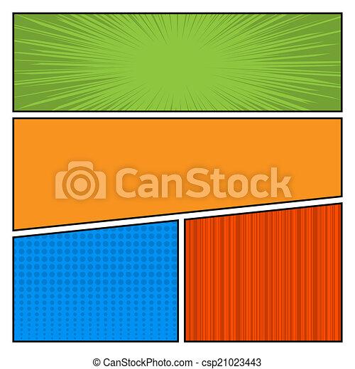 punten, stijl, kunst, mal, komieken, model, knallen, kleur, vector, achtergrond, leeg, opmaak - csp21023443