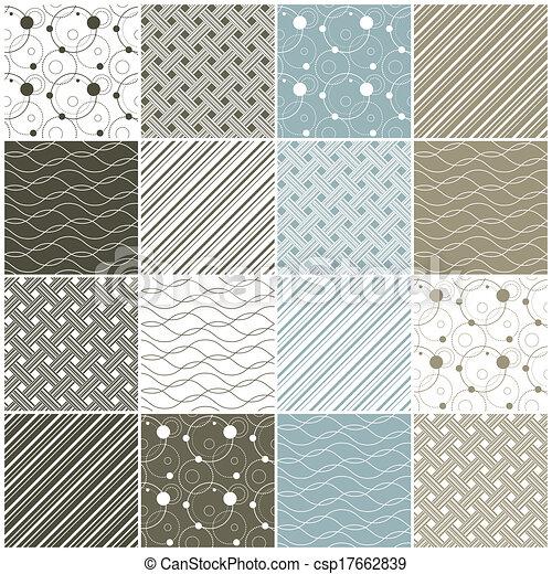 punten, strepen, seamless, patterns:, geometrisch, golven - csp17662839