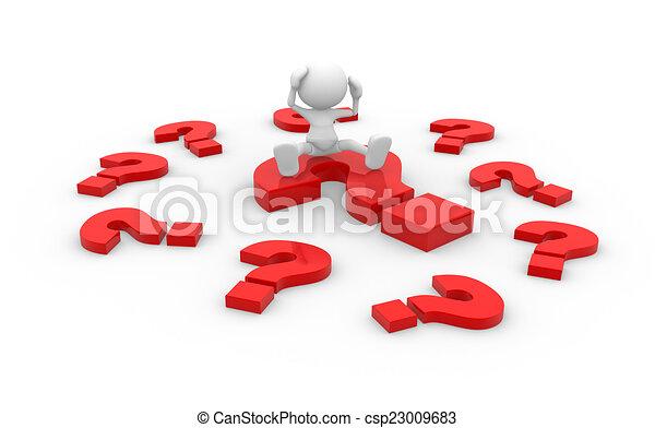 punto interrogativo - csp23009683