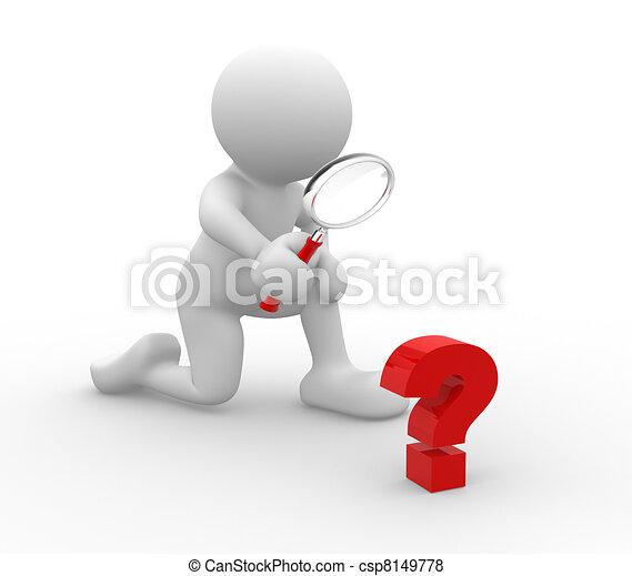 punto interrogativo - csp8149778