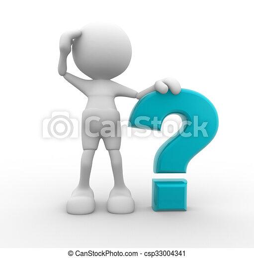 punto interrogativo - csp33004341