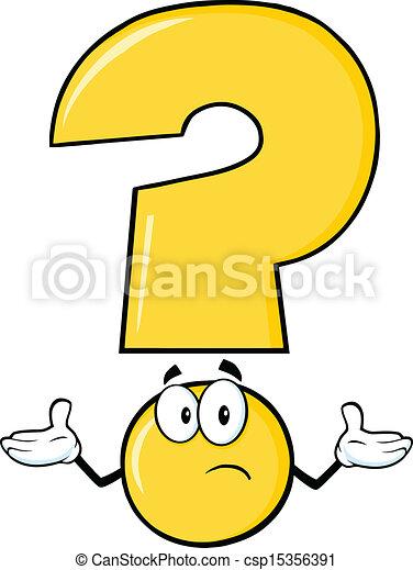 punto interrogativo, giallo - csp15356391
