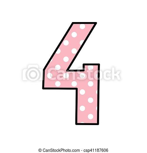 puntos blanco polca número 4 puntos pastel rosa polca número