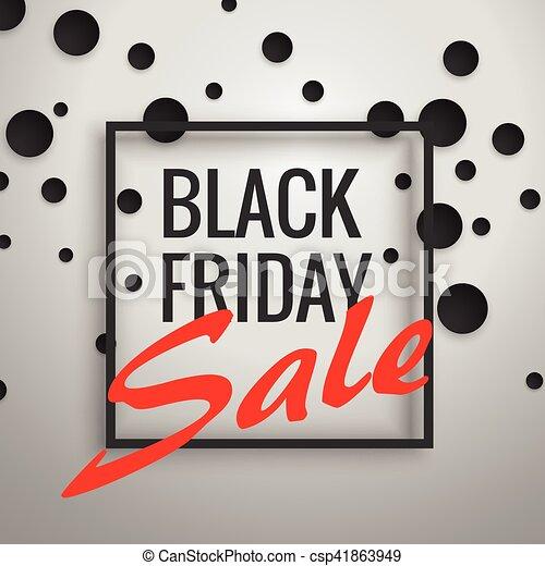 Puntos, cartel, marco, viernes, venta, descuento, fondo negro, diseño.