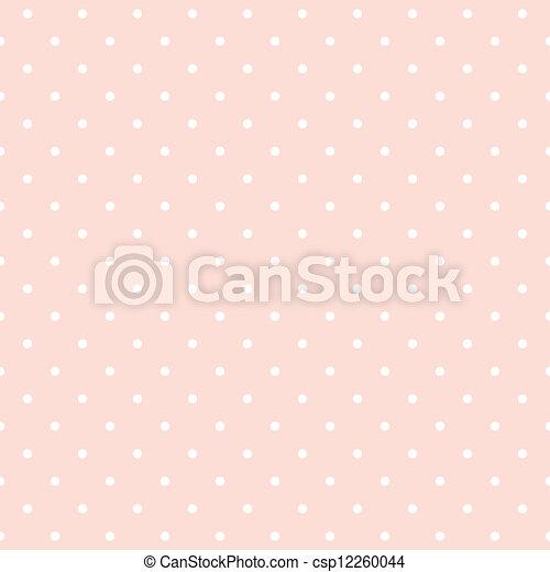 Polka puntea el fondo del vector rosa - csp12260044