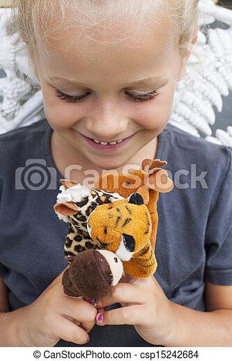 puppets, finger, barn - csp15242684