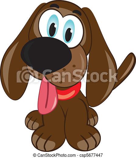 puppy., dessin animé - csp5677447