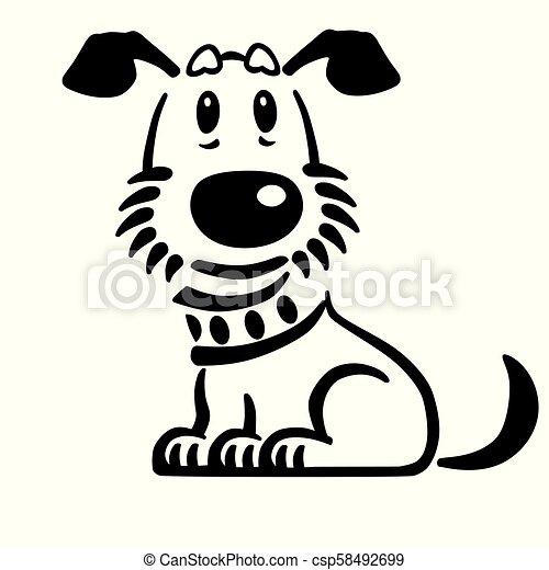 Puppy Dog Logo Cartoon Puppy Dog Vector Logo Icon Emblem