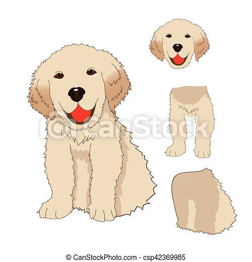 Puppy Golden Retriever Sitting Baby Dog Labrador Smile Greeting