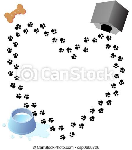 Puppy Love Paw Prints Trail - csp0688726