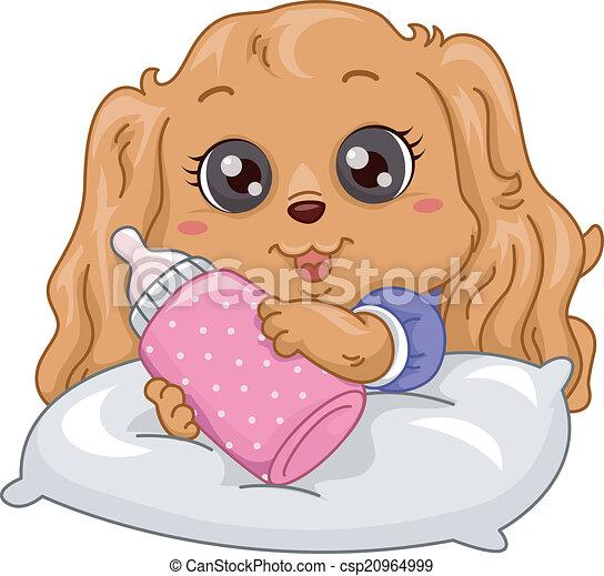 Puppy Milk Bottle - csp20964999