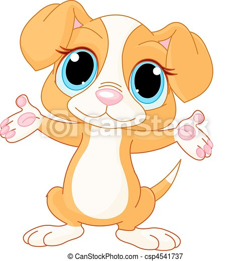 Puppy raising his hands - csp4541737