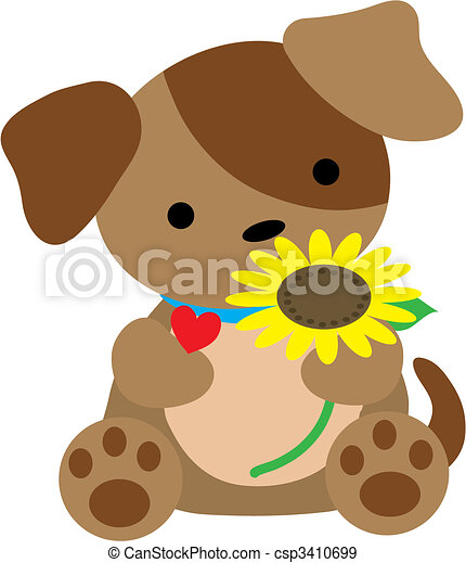 Puppy with Heart - csp3410699