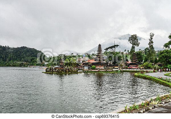 Pura Ulun Danu Bratan, Hindu temple - csp69376415