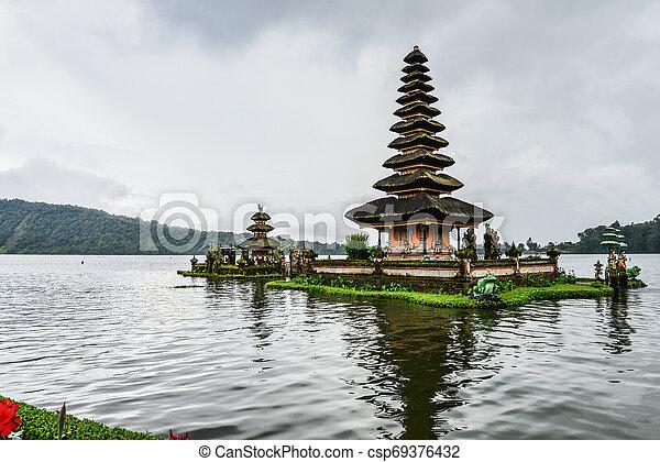 Pura Ulun Danu Bratan, Hindu temple - csp69376432