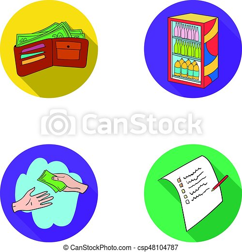 purchase goods shopping showcase supermarket set vector rh canstockphoto com purchase clip art software purchase clip art images