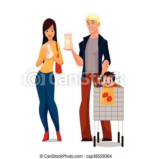 purchase of food products cartoon young family family clip art rh canstockphoto com purchase clipart for digitizing purchase clip art images