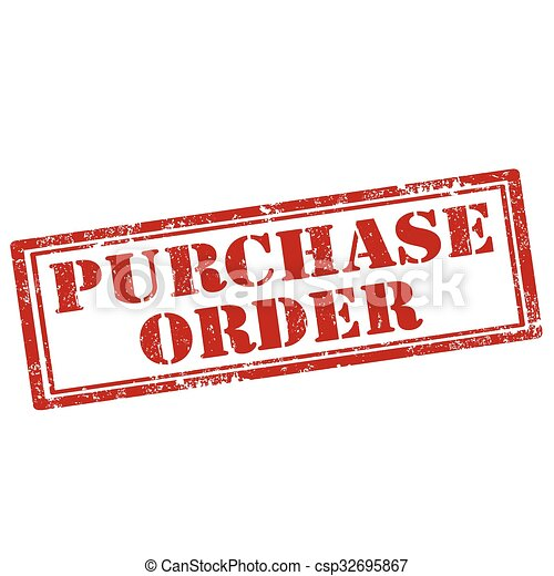 purchase order stamp csp32695867