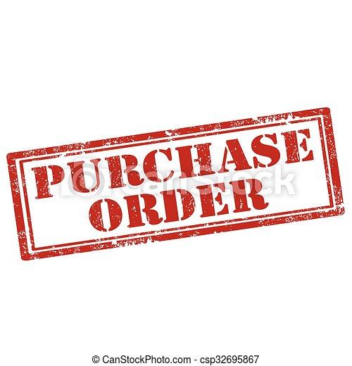 purchase order stamp csp32695867