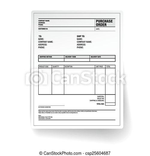 Purchase order Illustrations and Stock Art. 7,131 Purchase order ...