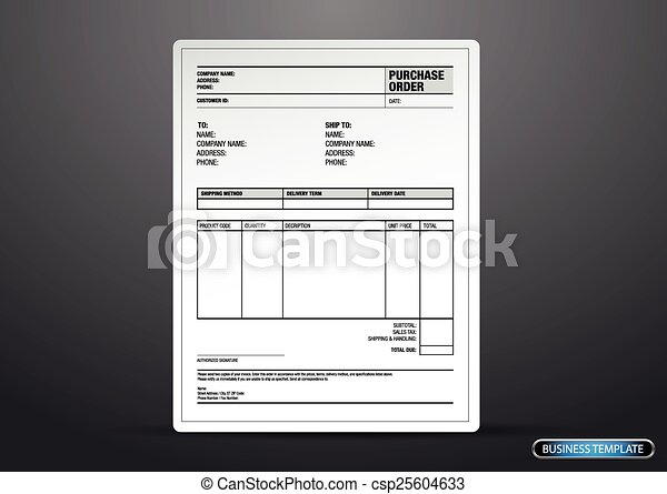 Purchase order template vector vectors - Search Clip Art ...