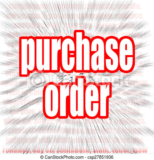 Purchase Order Word Cloud Image With HiRes Rendered Artwork