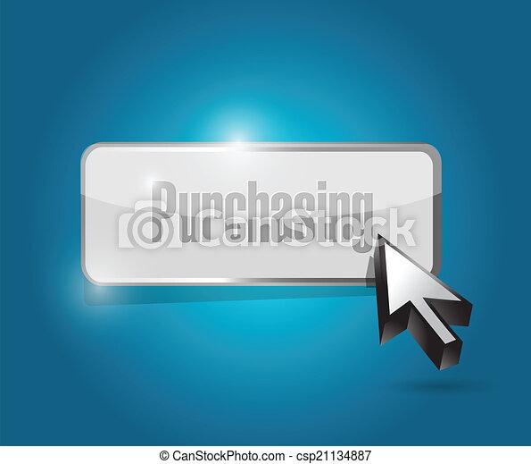 purchasing button illustration design - csp21134887