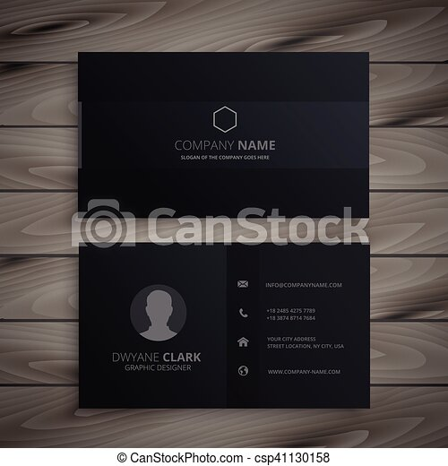 Pure black dark business card clipart vector search illustration pure black dark business card csp41130158 colourmoves