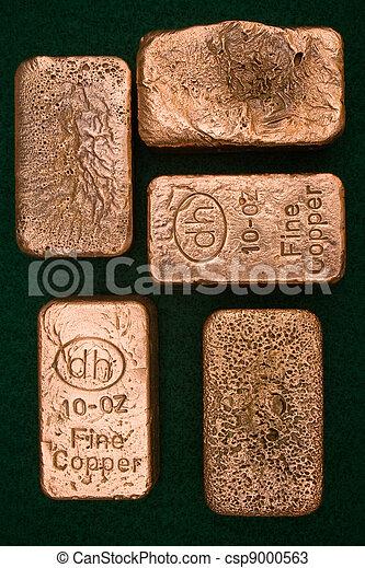 Pure Copper Bullion Bars - csp9000563
