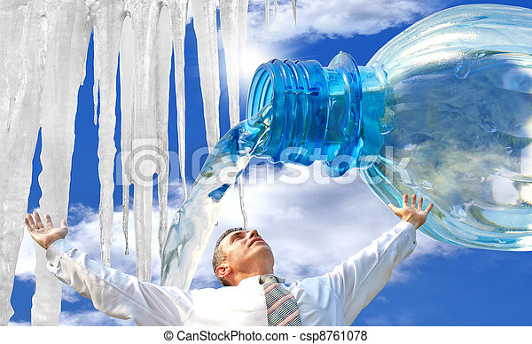 Pure potable water. The ecological  - csp8761078