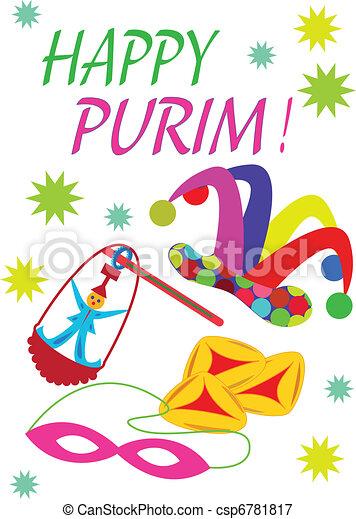 cheerful jewish holiday of purim rh canstockphoto com purim clipart free purim clipart free