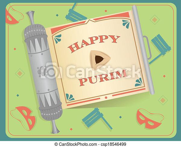 Pergamino de Purim - csp18546499