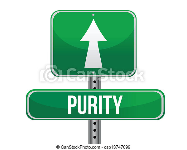 purity road sign illustration design - csp13747099