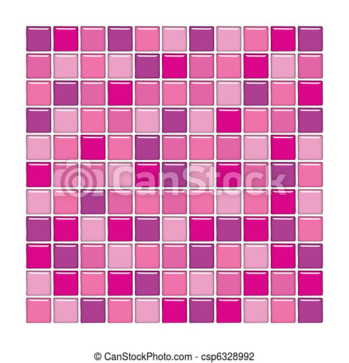 purple and pink glass tiles stock illustration - Azulejos Rosa