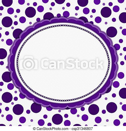 Purple and white polka dot frame background. Purple and white polka ...