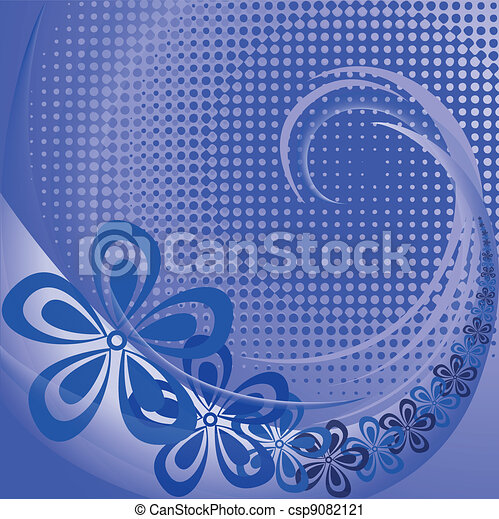 Purple background with flowers - csp9082121