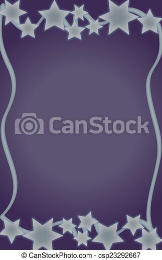 Purple Background With Stars - csp23292667