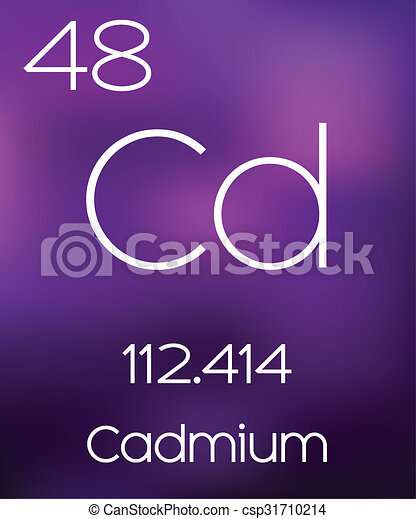 Purple Background with the Element Cadmium - csp31710214