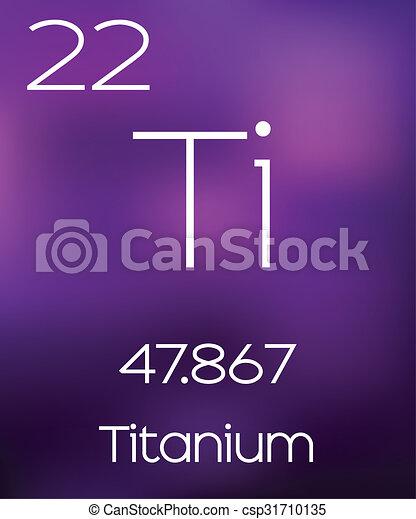 Purple Background with the Element Titanium - csp31710135