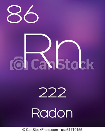 Purple Background With The Element Radon Stock Illustrations