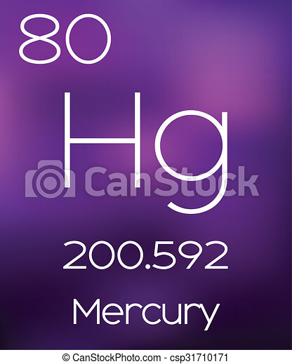 Purple Background with the Element Mercury - csp31710171