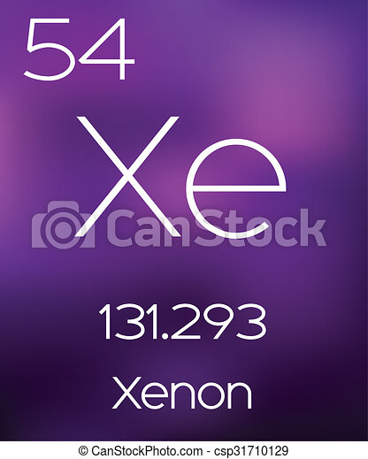 Purple Background with the Element Xenon - csp31710129