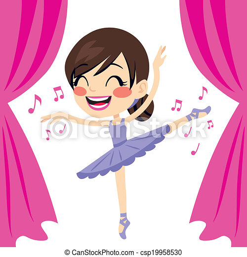 Purple Ballerina Tutu Dancer - csp19958530