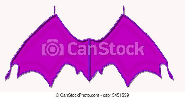 Purple Bat Wings - csp15451539